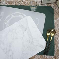 소소모소 로맨틱 마블 양면 테이블매트2P (화이트)_(142594)