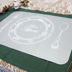 소소모소 로맨틱 마블 양면 테이블매트2P (그레이)_(142593)