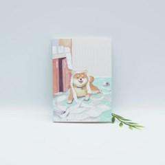 귀여운 강아지 일러스트 노트 (라인노트)