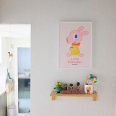 굴리굴리 포스터 / YELLOW&PINK DAISY ( 030 )