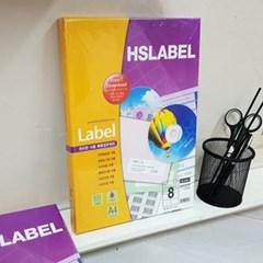Hnasol Label Paper 100매 HL4204 물류관리용 8칸