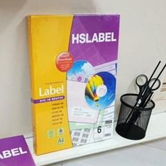 Hnasol Label Paper 100매 HL4203 물류관리용 6칸