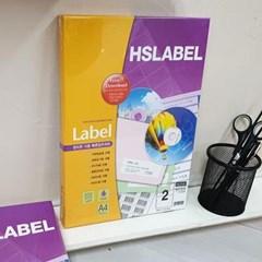 Hnasol Label Paper 100매 HL4102 물류관리용 2칸