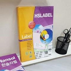 Hnasol Label Paper 100매 HL4306 물류관리용 18칸