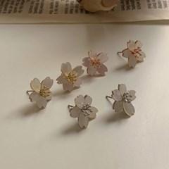 셀프웨딩 심플 자개 꽃 귀걸이