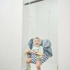라라비 도어설치형 아기그네 문틀 철봉 실내 유아 원목 그네
