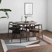 [헤리티지월넛] A형 원형식탁/테이블 세트_(1492702)