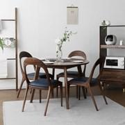 [헤리티지월넛] C형 원형식탁/테이블 세트_(1492701)