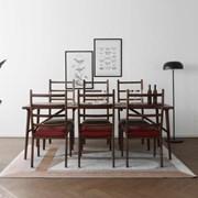[헤리티지월넛] V2형 식탁/테이블 세트_(1492697)