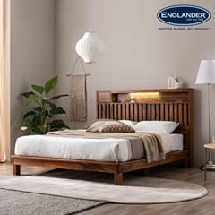 잉글랜더 오르 전체 로즈우드 LED 평상형 침대(매트제외_(12666202)