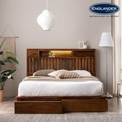 잉글랜더 오르 전체 로즈우드 LED 수납형 침대(DH 7존_(12666199)