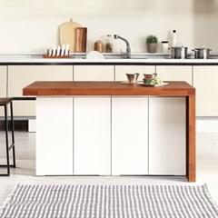 [데코마인] 엔슬리 아일랜드 식탁 1400 B형 홈바테이블