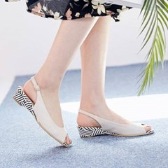 kami et muse Toe open middle wedge sling back_KM20s025