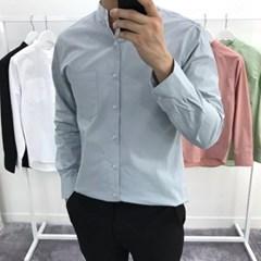 어깨넓어보이는 차이나카라 포켓 루즈핏 면 셔츠남방