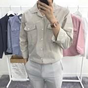 어깨넓어보이는 루즈핏 면 사파리 오픈카라 셔츠남방
