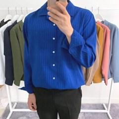 어깨넓어보이는 여름 쿨 세로줄 스트라이프 셔츠남방