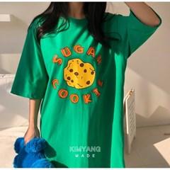 쿠키 여름 원피스 파자마 홈웨어