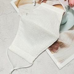빨아쓰는 필터교체형 일회용 중형 레이스 꽃무늬 일반면마스크