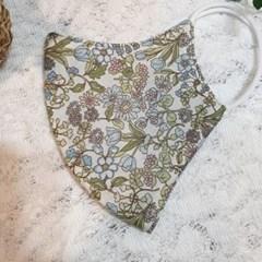 빨아쓰는 필터교체형 중형 일회용 꽃무늬 일반면마스크