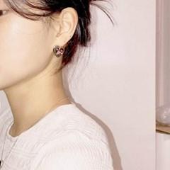 [하트 빈티지 귀걸이] 컬러하트 이어링