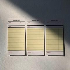 스트라이프 점착메모지 / Stripe Sticky, Green / orderlist
