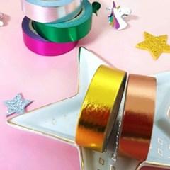 네온사인 메탈 마스킹 테이프 로즈골드 + 그린 + 핑크