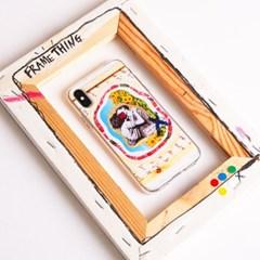 젤리케이스_프레임띵 No8 [Loveaurora] Phone Case