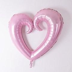 내마음을받아줘 분홍빛 하트 호일 대형풍선