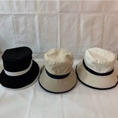 연예인 동백이 왕대두 배색 기본 벙거지 버킷햇 모자