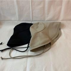 해외여행 여름 무지 넓은챙 턱끈 벙거지 버킷햇 모자