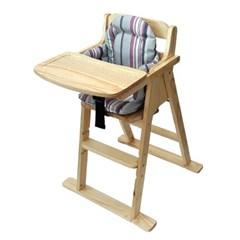[베이비캠프]내츄럴 유아용 식탁의자와 쿠션세트