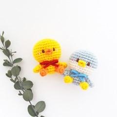 (손뜨개 DIY) 코바늘 펭귄 오리 인형 키트