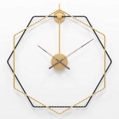 북유럽 월넛 육각 인테리어벽시계