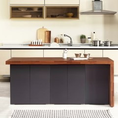 [데코마인] 엔슬리 아일랜드 식탁 1800 C형 홈바테이블
