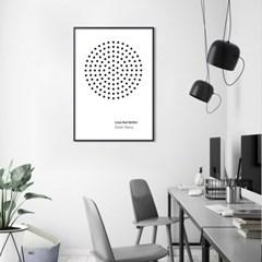 디터람스 타이포그래피 액자 인테리어 포스터