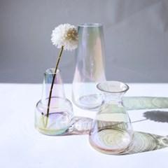 홀로그램 오로라 오팔 유리 화병 / 인테리어 미니꽃병