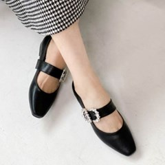 kami et muse Cubic strap belted flat_KM20s038