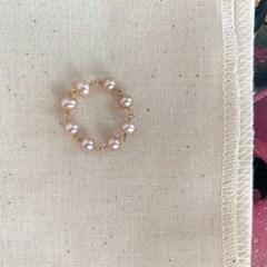 살구빛 담수진주, 다정한 반지