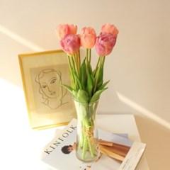 생화같은 고급 겹튤립 인테리어조화꽃장식(6color)