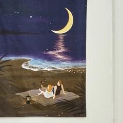 일상그림 패브릭 포스터 '밤바다'
