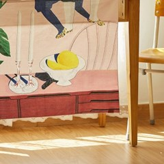 일상그림 패브릭 포스터 '냉정과 열정 사이'