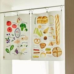 일상그림 패브릭 포스터 '10 super foods'