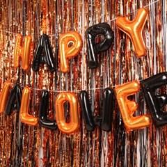 은박풍선 커튼세트 (HAPPY HALLOWEEN) 오렌지