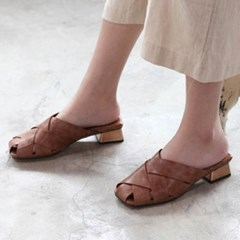 kami et muse Gold middle heel mash slippers_KM20s045