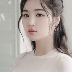 제이로렌 0M02426 플라워 큐빅 로즈골드 꽃귀걸이_(1006389)