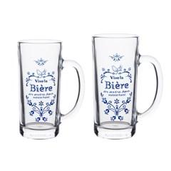 NEW 마메종 블루로즈 썸머글라스 맥주잔 2size