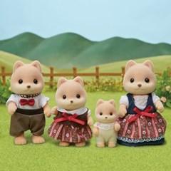 [실바니안공식]5459-카라멜 강아지 가족