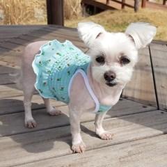 플라워 스모크크롭티 활동성과 귀여움을 모두 갖춘 강아지원피스