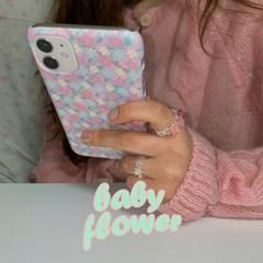 (단독)[뮤즈무드] pink baby flower 아이폰케이스