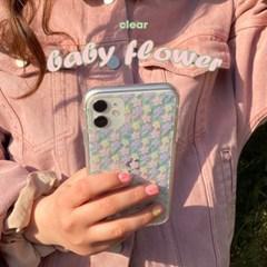 [뮤즈무드] baby flower (clear) 아이폰케이스